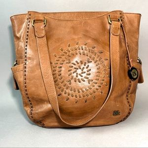 The Sak Whipstitch Leather Shoulder Purse Bag